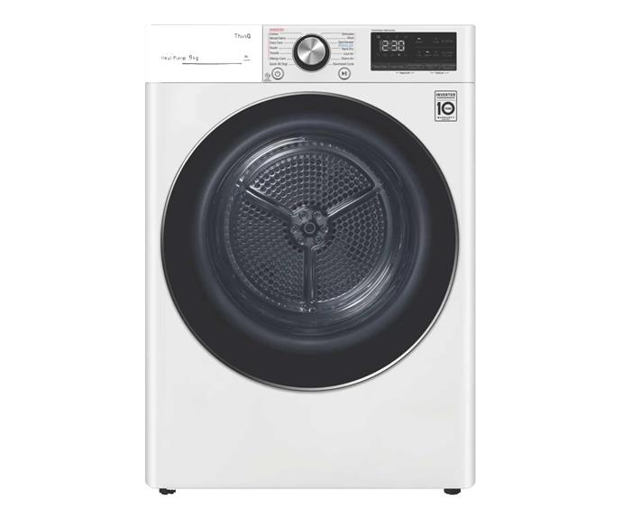 "LG 9kg Heat Pump Dryer, $1799, [The Good Guys](https://www.thegoodguys.com.au/lg-9kg-heat-pump-dryer-dvh9-09w|target=""_blank""