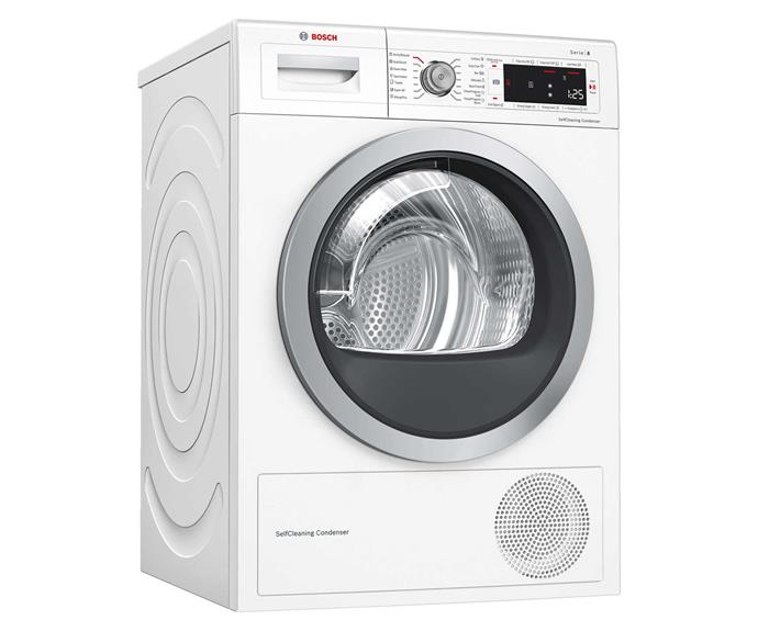 "Bosch 9kg heat pump dryer, $1799, [Harvey Norman](https://www.harveynorman.com.au/bosch-series-8-9kg-heat-pump-dryer.html|target=""_blank""
