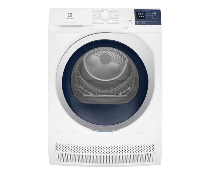 "Electrolux 8kg ultimate care condenser dryer, $749, [Appliances Online](https://www.appliancesonline.com.au/product/electrolux-8kg-condenser-dryer-edc804bewa|target=""_blank""
