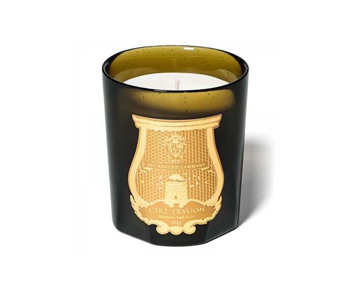 "Cire Trudon 'Gabriel' candle, from $125, [Libertine Parfumerie](https://www.libertineparfumerie.com.au/product/gabriel-candle/|target=""_blank""
