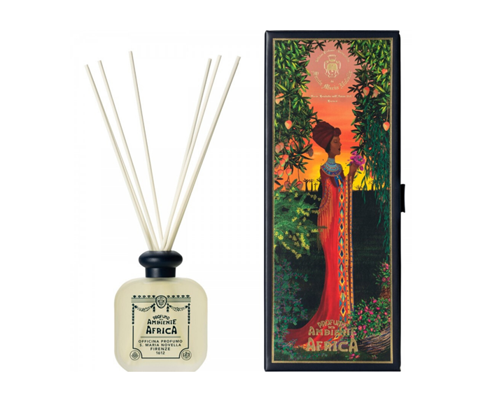 "Africa room diffuser, $189, [Libertine Parfumerie](https://www.libertineparfumerie.com.au/product/africa-room-diffuser/|target=""_blank""