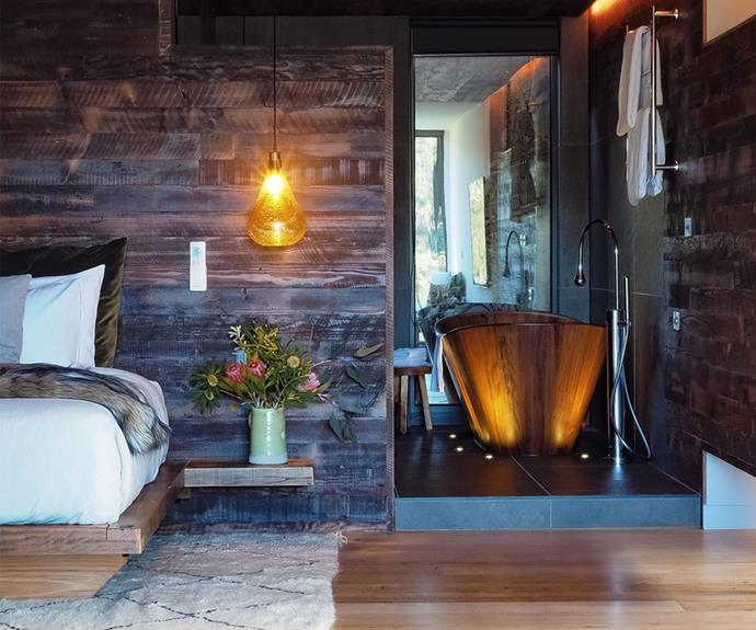 A Tasmanian blackwood bath in the master ensuite looks like the perfect place to relax.