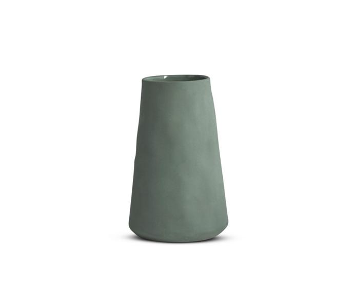 "Marmoset Found large tulip vase, $59, [Norsu Interiors](https://norsu.com.au/products/marmoset-found-tulip-vase-large-moss|target=""_blank""|rel=""nofollow"")"