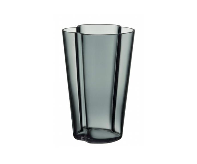"'Aalto' vase in grey, $299, [iitala](https://www.iittala.com.au/aalto-vase-22cm-grey.html|target=""_blank""|rel=""nofollow"")"