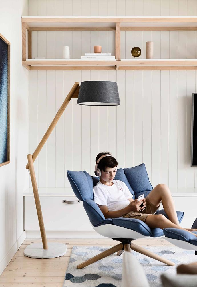 "**Chill factor** Kids' downtime can be as simple as a podcast and a comfortable chair. In this space by architects [Pleysier Perkins](https://www.pleysierperkins.com.au/|target=""_blank""