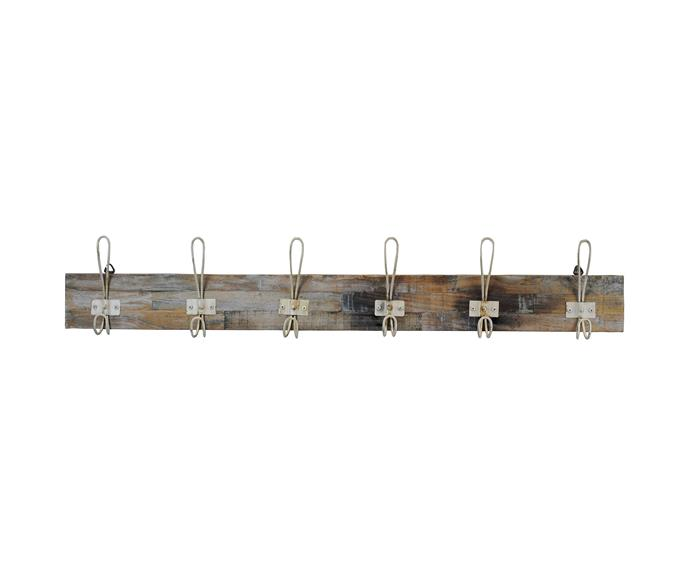 """**[Perin Recycled Teak Timber & Metal Hanger, $69, Living Styles](https://www.livingstyles.com.au/set-of-2-perin-metal-and-timber-6-hook-hangers-rustic-white-weathered-natural target=""""_blank"""" rel=""""nofollow"""")** <br></br> Get your [home entryway](https://www.homestolove.com.au/country-home-entryway-ideas-21554 target=""""_blank"""") organised once and for all. To prevent bags cluttering the floor, invest in a sturdy set of wall hooks. This rustic design, constructed from timber and metal, is perfect for the modern farmhouse."""