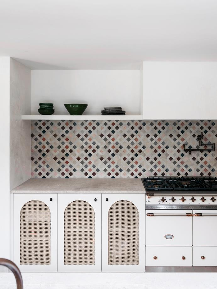 Doga 'Tunisian' mosaics from Aeria Country Floors make a statement in the kitchen.