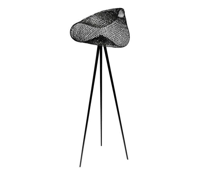 "Chiles bamboo floor lamp in Black, $295, [Domo](https://www.domo.com.au/|target=""_blank""|rel=""nofollow"")."