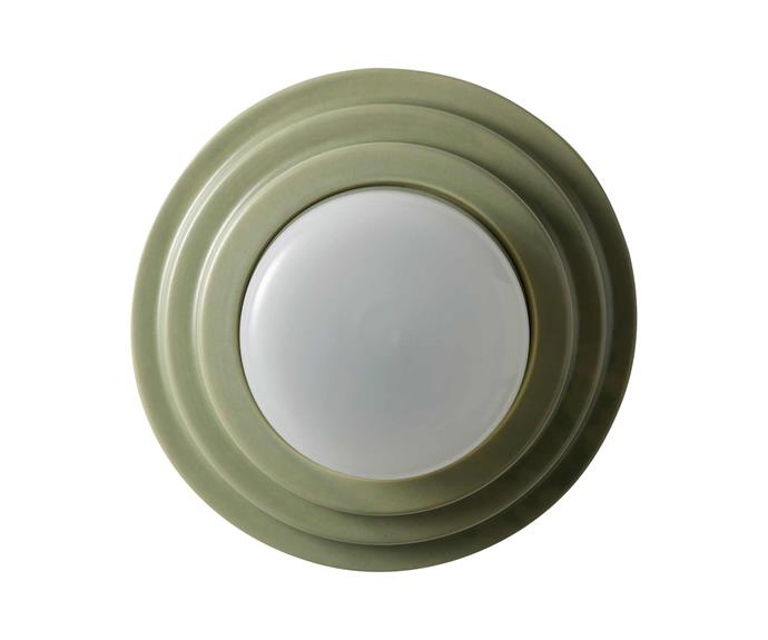 "Honey raw ceramic wall light, $891, [Coco Flip](https://cocoflip.com.au/|target=""_blank""|rel=""nofollow"")."