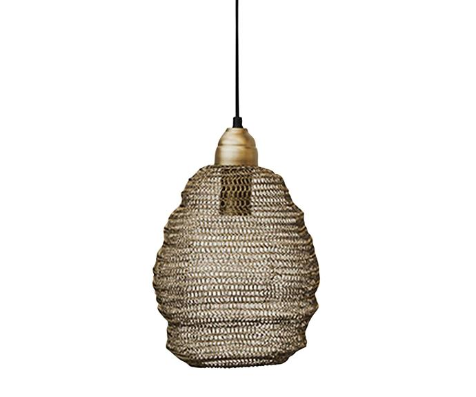 "Ball Lamp Mini pendant in Black, $95, [Aura Home](https://www.aurahome.com.au/|target=""_blank""|rel=""nofollow"")."