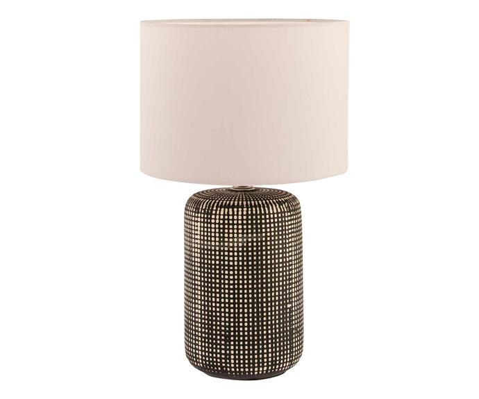 """Xenon table lamp, $44.95, [Freedom](https://www.freedom.com.au/