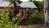A heritage-style garden and restored church in Orange, NSW