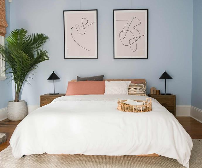 """Tess and Luke opted for neutral artwork and the timber tones of the [Koala bed base](https://au.koala.com/
