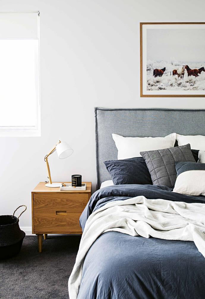 "**Master bedroom** One of Lauren's absolute favourite suppliers is Urban Couture Design + Homewares; the grey bedhead is from the Surry Hills store. The bedside table is by [Warranbrooke](https://www.warranbrooke.com.au/|target=""_blank""