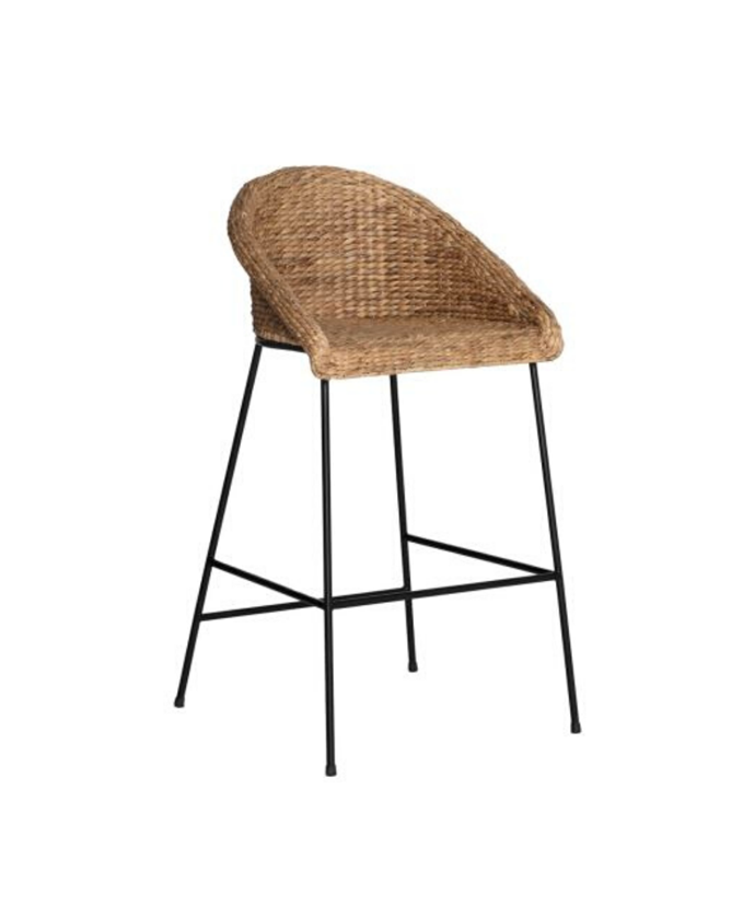 """Delfina Bar Stool, Natural & Black, $179, [Freedom](https://www.freedom.com.au/dining-kitchen/dining-chairs/all-dining-chairs/24121798/delfina-bar-stool-natural-black?reflist=dining-kitchen/dining-chairs