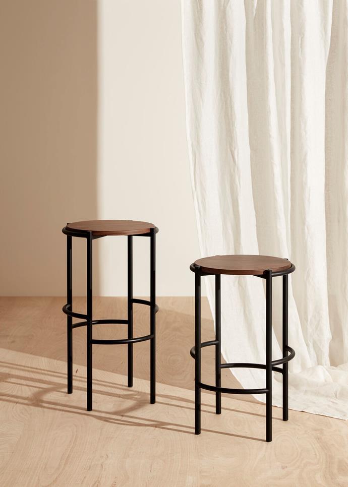 "Fomu Medium & High stool, from $480, [Fomu](https://www.fomudesign.com/shop-1/fomu-medium-stool|target=""_blank""|rel=""nofollow"")"