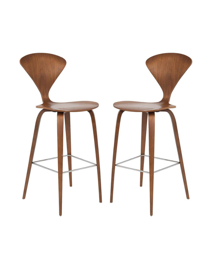 "Cherner Counter Stools in Walnut by Norman Cherner, Pair, $2,178.55 per set, [1st dibs](https://www.1stdibs.com/furniture/seating/armchairs/cherner-counter-stools-walnut-norman-cherner-pair/id-f_18282782/?&currency=aud&gclid=Cj0KCQjwpNr4BRDYARIsAADIx9wYrKzXx8AoCKxNWjAM-ipOqGYyxIOK3Z3wGb5Dn2ju28wjCom5BtoaAlIzEALw_wcB&gclsrc=aw.ds|target=""_blank""|rel=""nofollow"")"