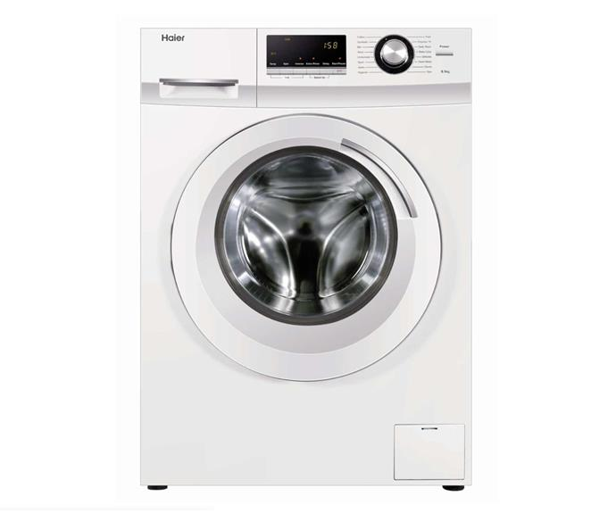 "Haier 8.5kg Front Load Washing Machine, $699, [JB Hi-Gi](https://www.jbhifi.com.au/collections/home-appliances/washing-machines|target=""_blank""