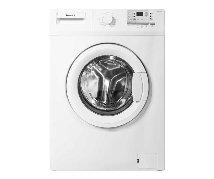 "Euromaid 7kg Front Load Washing Machine, $465, [Appliances Online](https://www.appliancesonline.com.au/product/7kg-front-load-euromaid-washing-machine-wm7pro|target=""_blank""