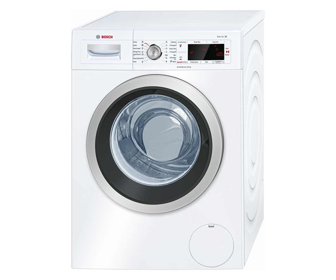 "Bosch 8kg Front Load Washing Machine, $1173, [Appliances Online](https://www.appliancesonline.com.au/product/bosch-8kg-front-loading-washing-machine-waw28460au|target=""_blank""