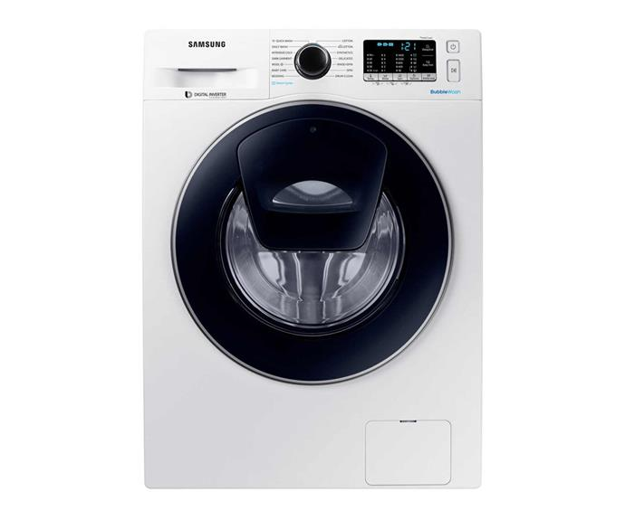 "Samsung 8.5kg AddWash Front Load Washing Machine with Steam, $808, [Winnings Appliances](https://www.winningappliances.com.au/p/samsung-8-5kg-addwash-front-load-washing-machine-with-steam-ww85k54e0uw|target=""_blank""