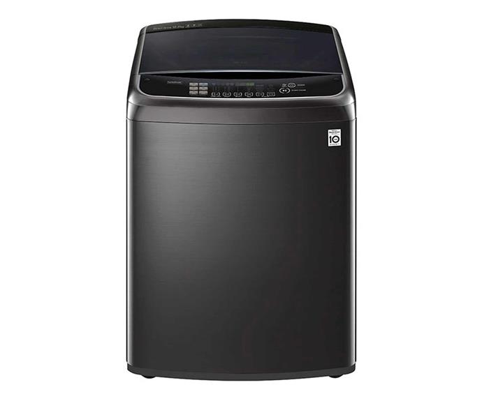 "LG 10kg Top Load Washing Machine with Turbo Clean 3D, $1249, [Harvey Norman](https://www.harveynorman.com.au/lg-10kg-top-load-washing-machine-with-turboclean3d-black-stainless-steel.html|target=""_blank""