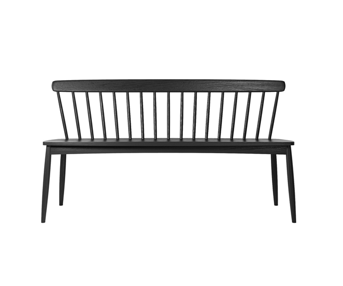 "Karpenter Oak 'twist' bench, $1745, [RJ Living](https://www.rjliving.com.au/buy-twist-bench-satin-black.html|target=""_blank""|rel=""nofollow"")"