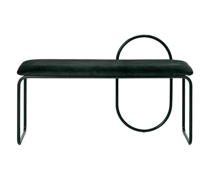 "AYTM Angui bench, $920, [Design Stuff](https://www.designstuff.com.au/aytm-angui-bench-forest/|target=""_blank""|rel=""nofollow"")"