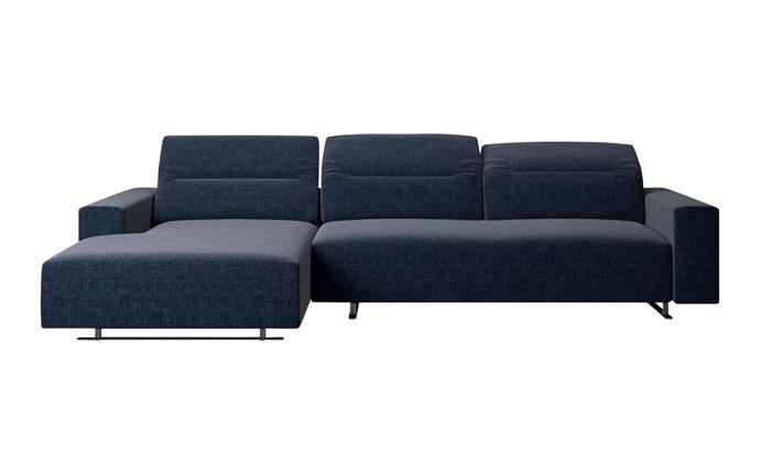 "Hampton sofa in Dark Blue Frisco with Aquaclean, $9029, [BoConcept](https://www.boconcept.com/|target=""_blank""|rel=""nofollow"")."
