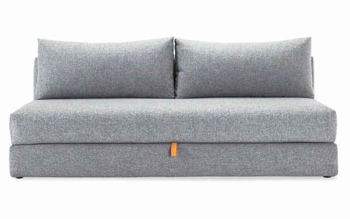 "Osvald storage sofa bed in Microcheck Grey, $2999, [Innovation Living Melbourne](https://www.innovationliving.com/|target=""_blank""