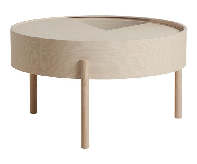 "Woud 'Arc' coffee table in Ash, $1570, [RJ Living](https://www.rjliving.com.au/|target=""_blank""