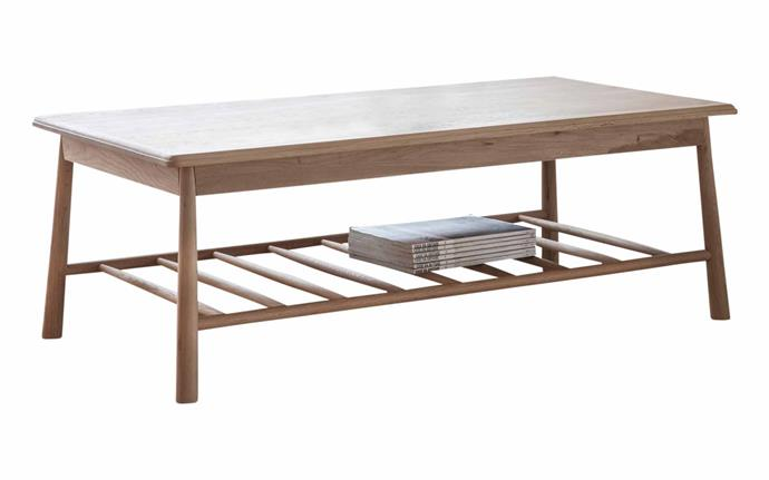 "Unica 'Concord' rectangular coffee table, $849, [RJ Living](https://www.rjliving.com.au/|target=""_blank""
