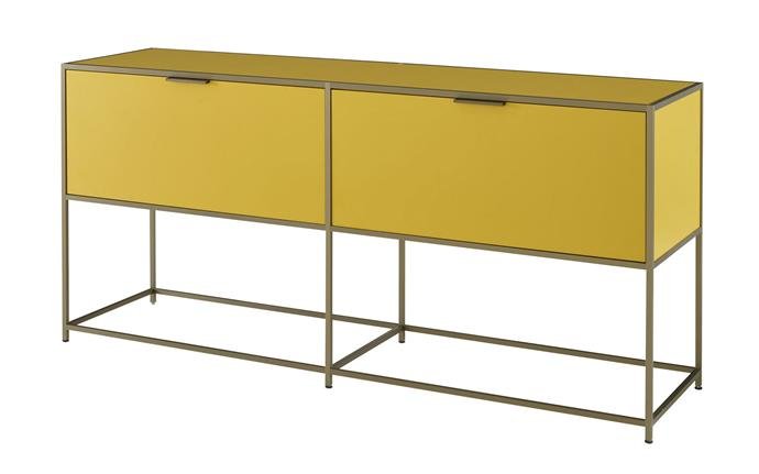 "Ligne Roset 'Dita' double console in Mustard, $4925, [Domo](https://www.domo.com.au/|target=""_blank""