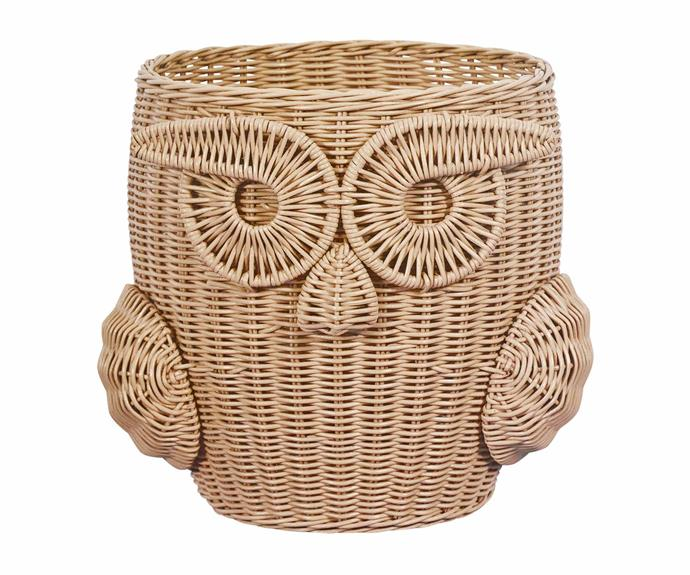 "Owl planter basket, $129, [The Family Love Tree](https://www.thefamilylovetree.com.au/|target=""_blank""