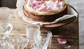 Burnt honey and ricotta cheesecake