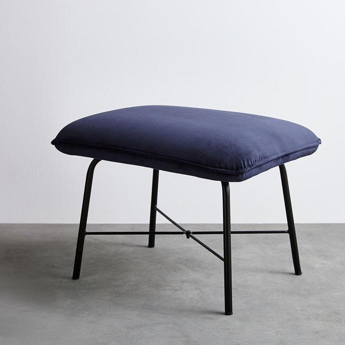 """Mila velvet ottoman, $59, [Target](https://www.target.com.au/p/mila-velvet-ottoman/63357158 target=""""_blank"""" rel=""""nofollow"""")"""