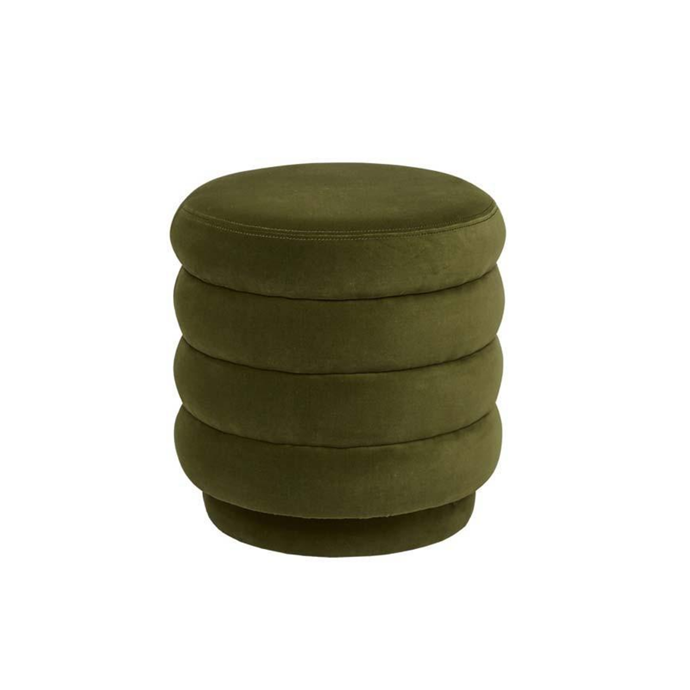 """Kennedy ribbed round ottoman, $680, [Globe West](https://www.globewest.com.au/browse/kennedy-ribbed-round-ottoman