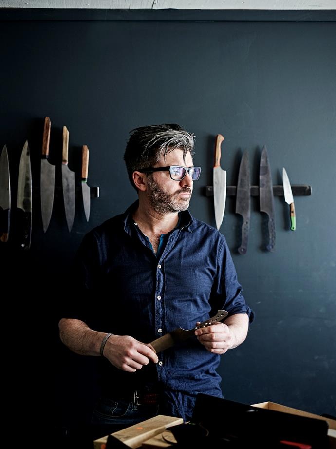 Todd Neale began his knifemaking business in 2012 in the shed in his backyard in Castlemaine. He now works out of a factory complex.