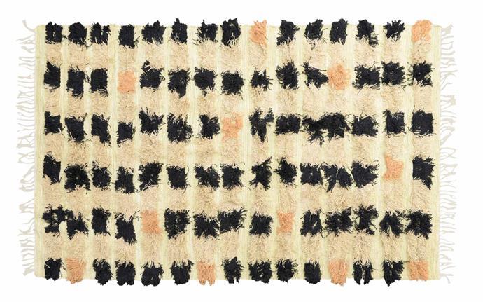 "Echoes Black Spot rug (120cm x 200cm), $419, [Amigos De Hoy](https://amigosdehoy.com/|target=""_blank""|rel=""nofollow"")."
