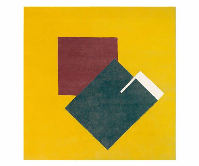 "ClassiCon 'Castellar' by Eileen Gray rug (175cm x 175cm), $9000, [Anibou](https://www.anibou.com.au/|target=""_blank""|rel=""nofollow"")."