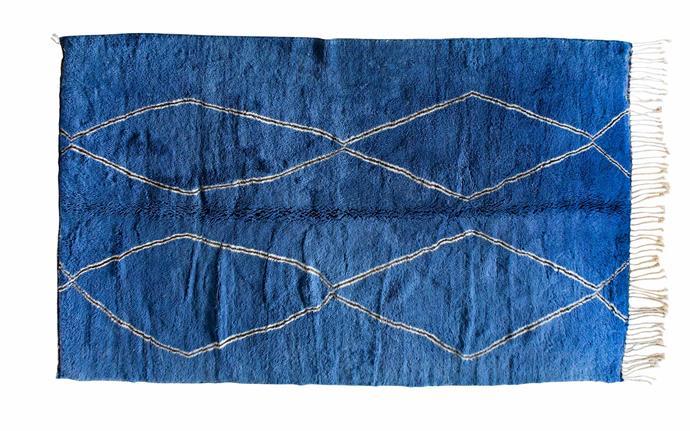 "Bebey Beni M'Rirt vintage rug (205cm x 330cm), $5950, [Tigmi Trading](https://tigmitrading.com/|target=""_blank""|rel=""nofollow"")."