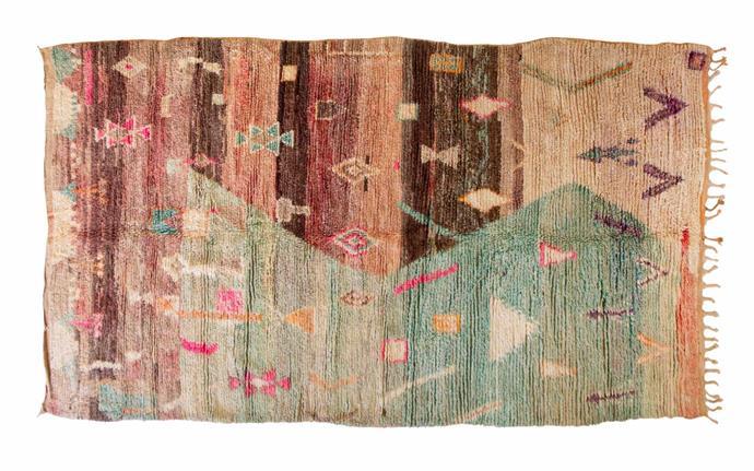 "Promesses Boujad vintage rug (180cm x 306cm), $4600, [Tigmi Trading](https://tigmitrading.com/|target=""_blank""|rel=""nofollow"")."