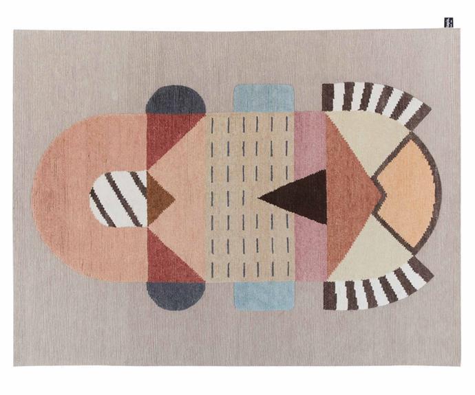 "CC Tapis 'Flatlandia Cartesio' by Elena Salmistraro rug (300cm x 400cm), POA, [Loom](https://www.loomrugs.com/|target=""_blank""|rel=""nofollow"")."