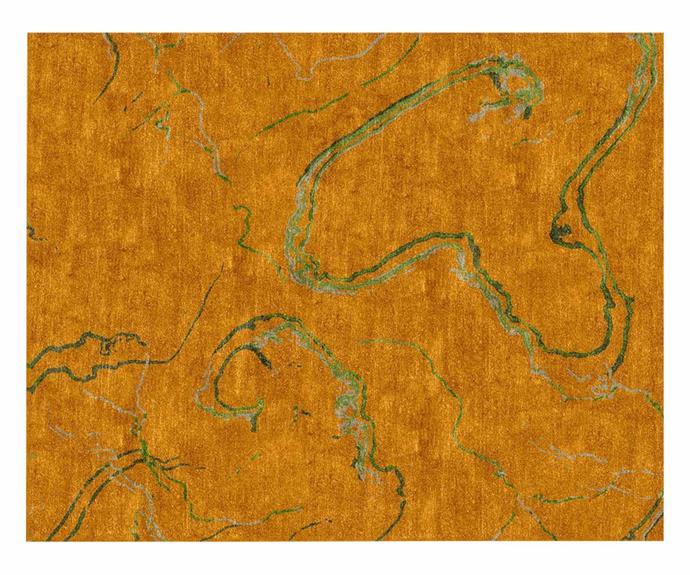 "Contemporary Simena Gold rug (300cm x 400cm), $11,300, [Loom](https://www.loomrugs.com/|target=""_blank""|rel=""nofollow"")."