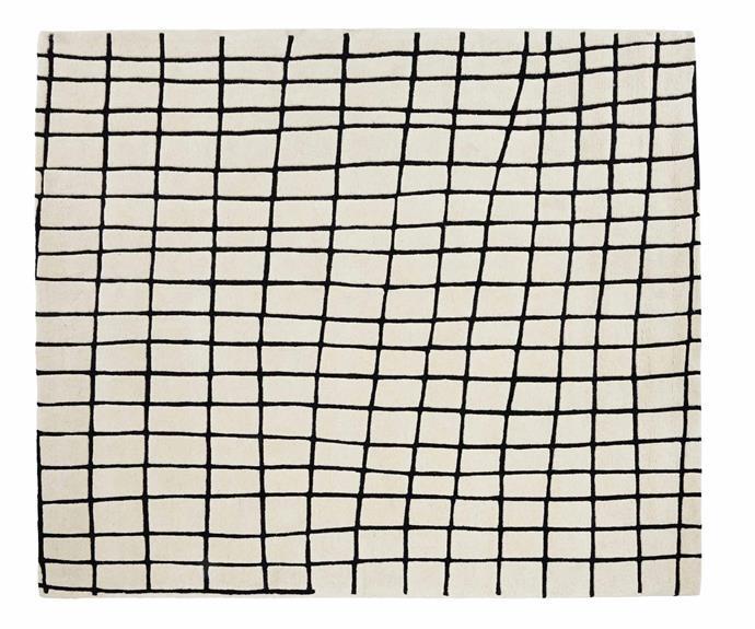 "Ligne Roset 'Quadric' rug (260cm x 300cm), $2650, [Domo](https://www.domo.com.au/|target=""_blank""|rel=""nofollow"")."