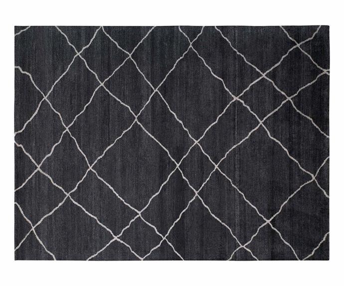 "Casablanca rug (260cm x 360cm), $4580, [King Living](https://www.kingliving.com.au/|target=""_blank""|rel=""nofollow"")."