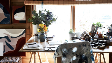At home with emerging artist Hannah Nowlan