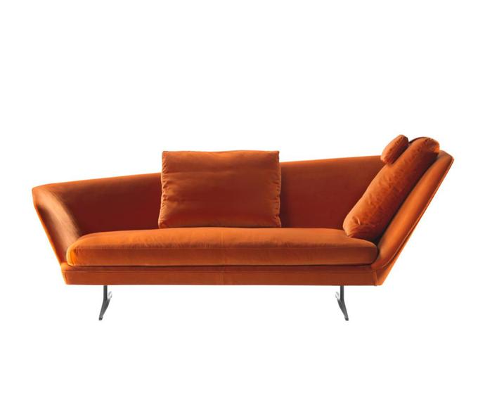 "Zeus chaise by Flexform, POA, [Fanuli](https://www.fanuli.com.au/furniture/living-room-furniture/sofa-beds/zeus-chaise/|target=""_blank""|rel=""nofollow"")"
