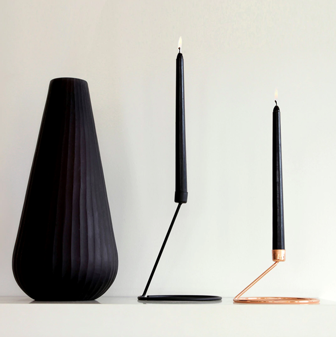"Flame Tall Luxe, $27, [Bendo](https://www.bendo.com.au/collections/homewares/products/flame-tall-luxe|target=""_blank""
