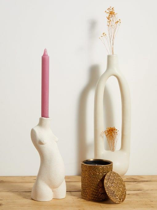 "Anissa Kermiche Body small ceramic candlestick, $172, [MatchesFashion](https://www.matchesfashion.com/au/products/Anissa-Kermiche-Body-small-ceramic-candlestick-1343293|target=""_blank""